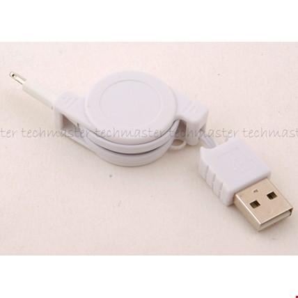 iPhone 5 5s 6 6 Plus Makaralı Usb Şarj Kablosu 2 Adet Renk: Beyaz