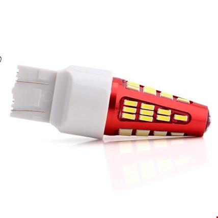 7443 T20 Çift Duy 48 Ledli Ampül Stop 2 ADET Beyaz Işık