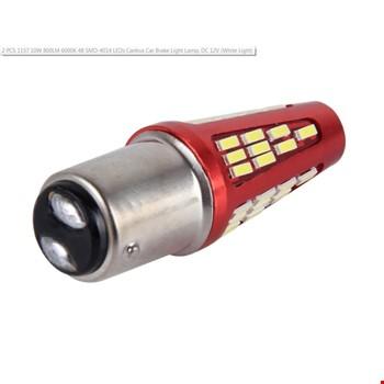 1157 Çift Duy 48 Ledli Ampül Stop 2 ADET Beyaz Işık Çakarlı