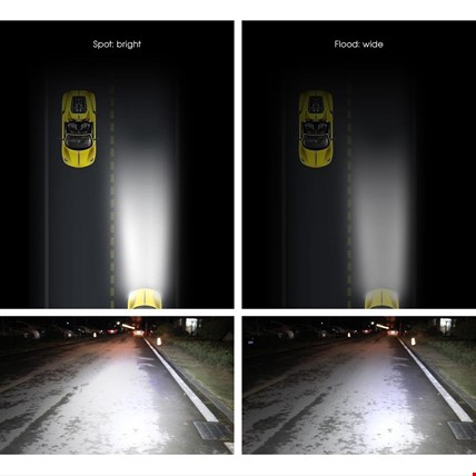 120w 40 Led Off Road Sis Gündüz Farı Lambası Projektör 56 CM