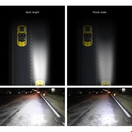 180w 60 Led Off Road Sis Gündüz Farı Lambası Projektör 71 CM 28inç