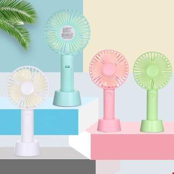 Mini Şarjlı Standlı El Vantilatörü Fanı Soğutucu 3 Kademeli
