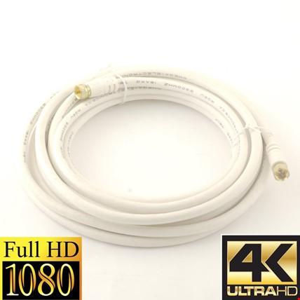 10 Metre Hazır Tak Kullan Uydu Anten Kablosu RG6-U6 Kablo Full HD