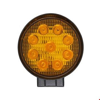 9 Led 27W Off Road Gündüz Sis Farı Lambası Yuvarlak İnce Sarı Işık