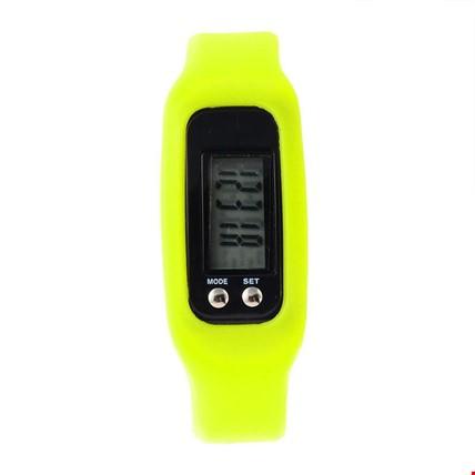 Adımsayar KaloriMetre Led Spor Saat 3 Adet Saat Renk: Sarı