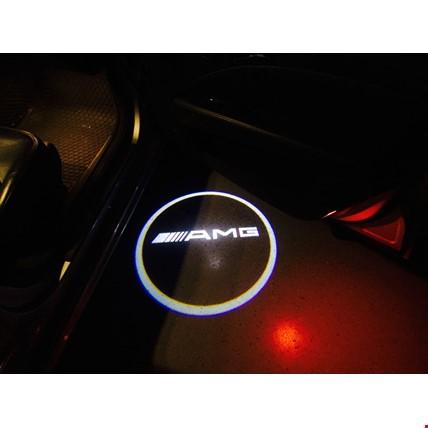 Mercedes AMG Kapı Altı Led Logo Aydınlatma 3D Ghost Shadow