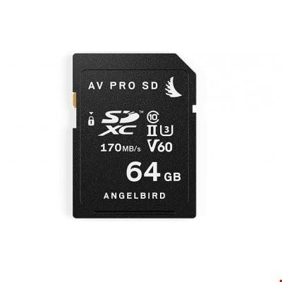 Angelbird AV PRO SD V60 64 GB Hafıza Kartı
