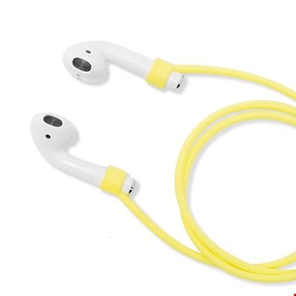 Apple AirPods 2 Airpods Pro Silikon Askı Askısı Kaybolmayı Önler Renk: Sarı