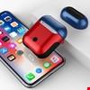 Apple Airpods Kulaklık Silikon Kılıf Askılı Tam Koruma Çift Renk