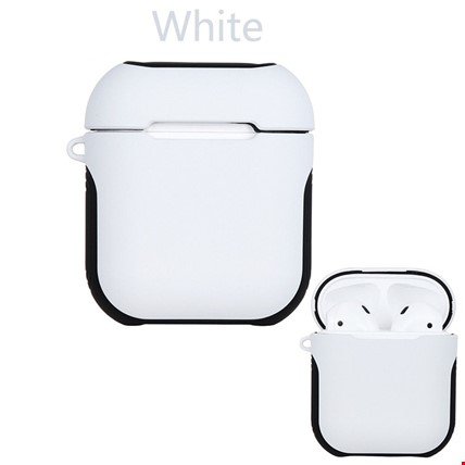 Apple Airpods Kulaklık Silikon Kılıf Askılı Tam Koruma Çift Renk Renk: Beyaz
