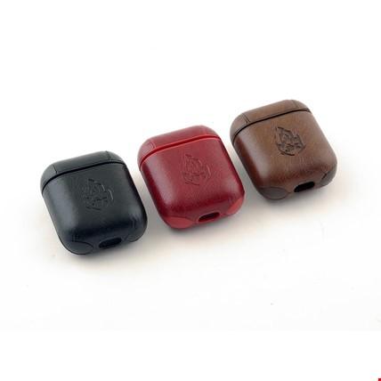 Apple Airpods Kulaklık Deri Kılıf Askılı Leather Renk: Kırmızı