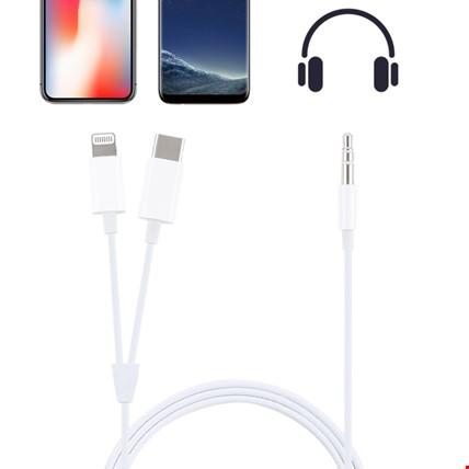iPhone Lightning Type-C 3.5mm Aux Ses Kablosu MH-CM32