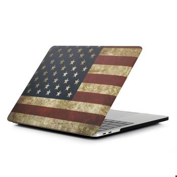 Macbook Pro 16 2019 A2141 Bayrak Desenli Kılıf Kapak