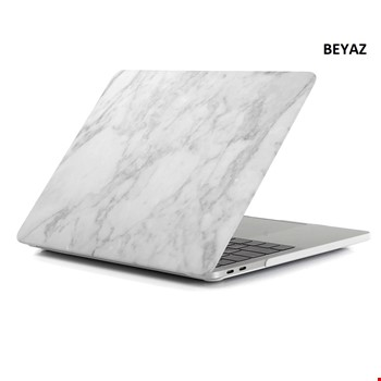Macbook Pro 16 2019 A2141 Mermer Desenli Kılıf Kapak