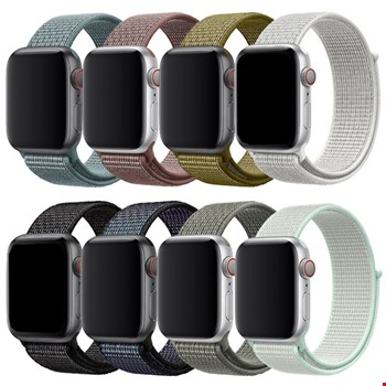Apple Watch 1 2 3 4 5 6 38mm 40mm Loop Örgü Spor TME Kordon Kayış