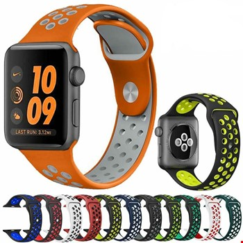 Apple Watch 1 2 3 4 5 38mm 40mm Spor Silikon TME Kordon Kayış