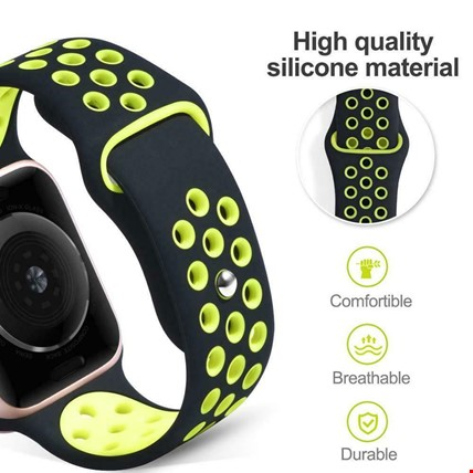 Apple Watch 1 2 3 4 5 38mm 40mm Spor Silikon TME Kordon Kayış