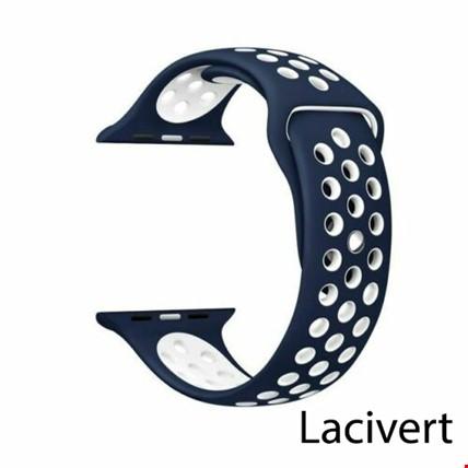 Apple Watch 1 2 3 4 5 38mm 40mm Spor Silikon TME Kordon Kayış Renk: Lacivert