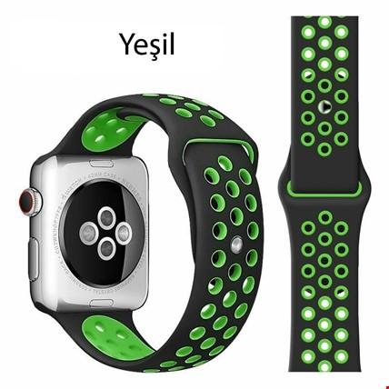 Apple Watch 1 2 3 4 5 38mm 40mm Spor Silikon TME Kordon Kayış Renk: Yeşil