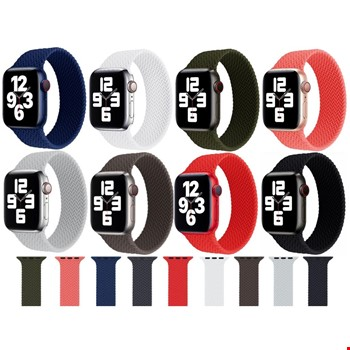 Apple Watch 2 3 4 5 6 38 40mm Silikon Solo Loop TME Kordon Small