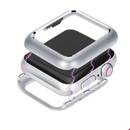 Apple Watch 1 2 3 seri 42mm Metal 360 Kapak Koruma Renk: Gri