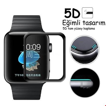 Apple Watch 2 3 4 38 40 42 44 mm 5D Kırılmaz Cam Tam Ekran Koruma Apple Watch Modeli: 40mm