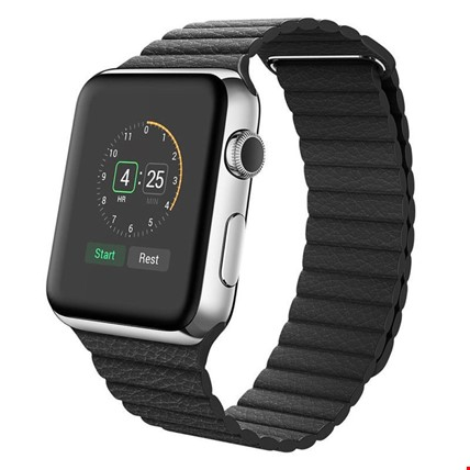 Apple Watch 2 3 4 5 38 ve 40mm 42 ve 44mm Leather Loop TME Kordon Renk: SiyahApple Watch Modeli: 42 44mm