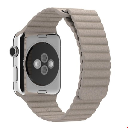Apple Watch 2 3 4 5 38 ve 40mm 42 ve 44mm Leather Loop TME Kordon Renk: BejApple Watch Modeli: 42 44mm