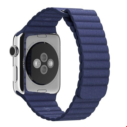 Apple Watch 2 3 4 5 38 ve 40mm 42 ve 44mm Leather Loop TME Kordon Renk: LacivertApple Watch Modeli: 42 44mm
