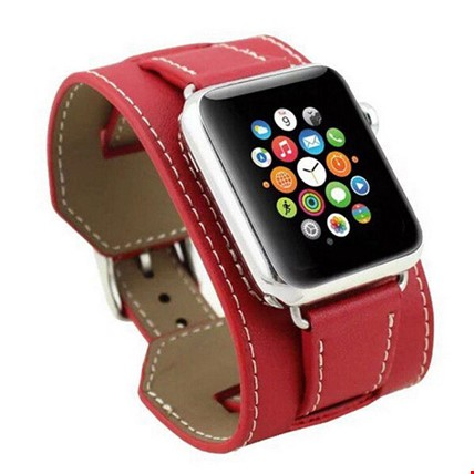 Apple Watch 2 3 4 42 ve 44 mm Hermes Model Kordon Renk: Kırmızı