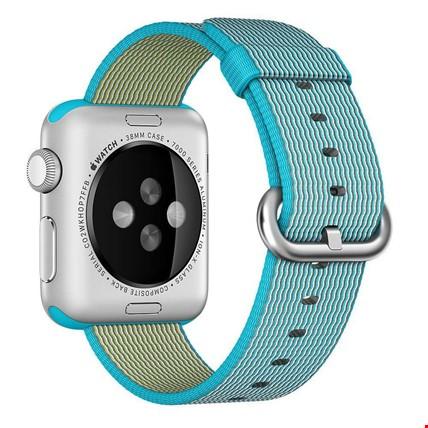 Apple Watch 2 3 4 42 ve 44mm TME Kordon Woven Nylon Renk: Yeşil