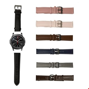 Samsung Galaxy Gear S3 Watch 3 45mm Lüks Deri TME Kordon Kayış