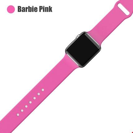 Apple Watch 2 3 4 5 6 Seri 38mm ve 40mm Silikon TME Kordon Kayış Renk: Barbie Pink