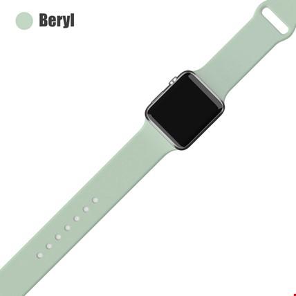 Apple Watch 2 3 4 5 6 Seri 38mm ve 40mm Silikon TME Kordon Kayış Renk: Beryl