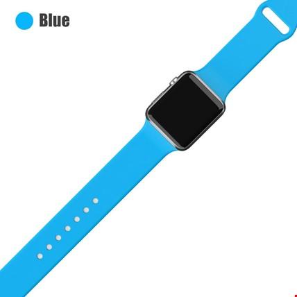 Apple Watch 2 3 4 5 6 Seri 38mm ve 40mm Silikon TME Kordon Kayış Renk: Blue