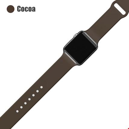 Apple Watch 2 3 4 5 6 Seri 38mm ve 40mm Silikon TME Kordon Kayış Renk: Cocoa