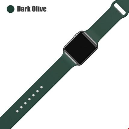 Apple Watch 2 3 4 5 6 Seri 38mm ve 40mm Silikon TME Kordon Kayış Renk: Dark Olive