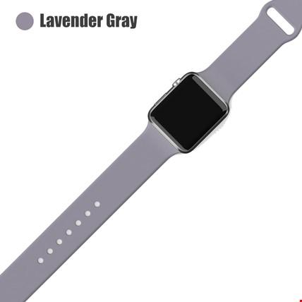 Apple Watch 2 3 4 5 6 Seri 38mm ve 40mm Silikon TME Kordon Kayış Renk: Lavender Gray