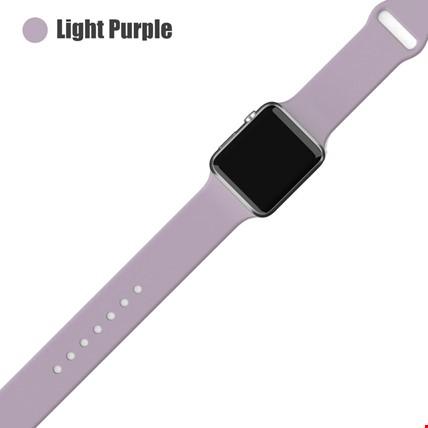 Apple Watch 2 3 4 5 6 Seri 38mm ve 40mm Silikon TME Kordon Kayış Renk: Light Purple