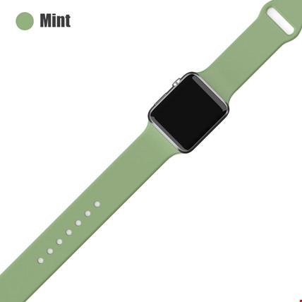 Apple Watch 2 3 4 5 6 Seri 38mm ve 40mm Silikon TME Kordon Kayış Renk: Mint