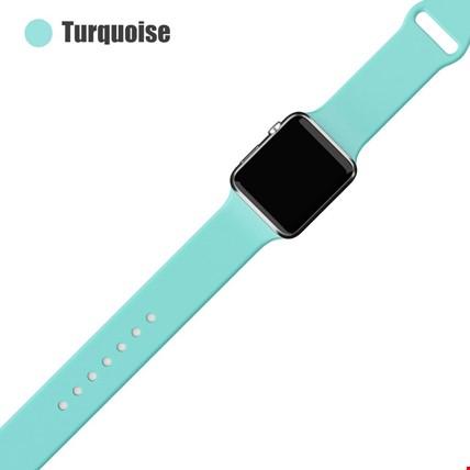 Apple Watch 2 3 4 5 6 Seri 38mm ve 40mm Silikon TME Kordon Kayış Renk: Turquise