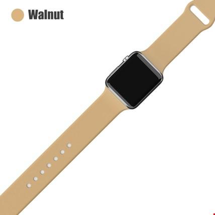 Apple Watch 2 3 4 5 6 Seri 38mm ve 40mm Silikon TME Kordon Kayış Renk: Wallnut