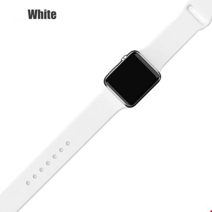 Apple Watch 2 3 4 5 6 Seri 38mm ve 40mm Silikon TME Kordon Kayış Renk: White