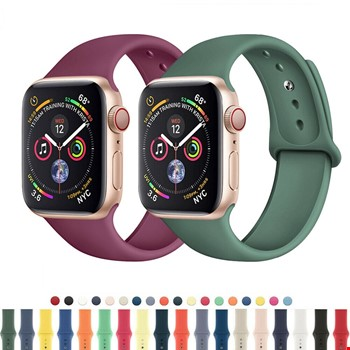 Apple Watch 2 3 4 5 6 Seri 42mm ve 44mm Silikon TME Kordon Kayış