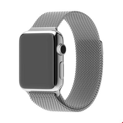 Apple Watch 2 3 4 5 6 İçin 42 44mm Metal Hasır TME Kordon Renk: Gümüş