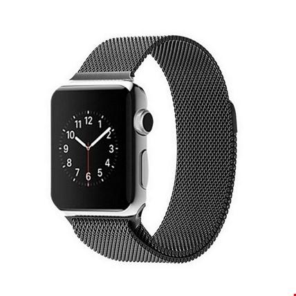 Apple Watch 2 3 4 5 6 İçin 42 44mm Metal Hasır TME Kordon Renk: Siyah