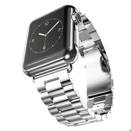 Apple Watch 38 mm 40 mm Çelik Steel TME Kordon Kayış Renk: Gri