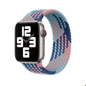 Apple Watch 38mm Wiwu Braided Solo Loop Contrast Color Large Kordon
