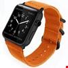 Apple Watch 1 2 3 4 5 Seri 38 40mm Spor Örgü Kanvas TME Kordon Renk: Turuncu