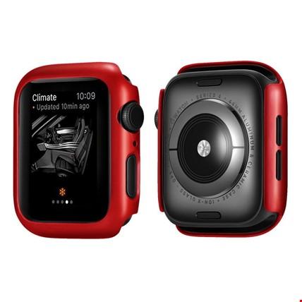 Apple Watch 4 5 40mm Sert Plastik Rubber Kapak Kılıfı Koruyucu Renk: Kırmızı